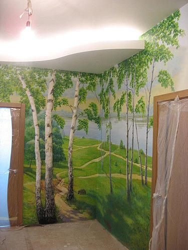 Пейзаж на стену своими руками 53